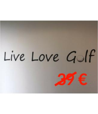Sticker Live Love Golf