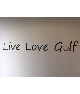 Sticker Live Love Golf