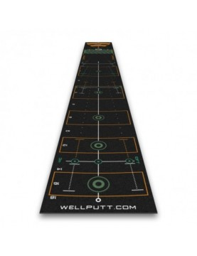 Tapis putting Wellputt 4 mètres NOIR
