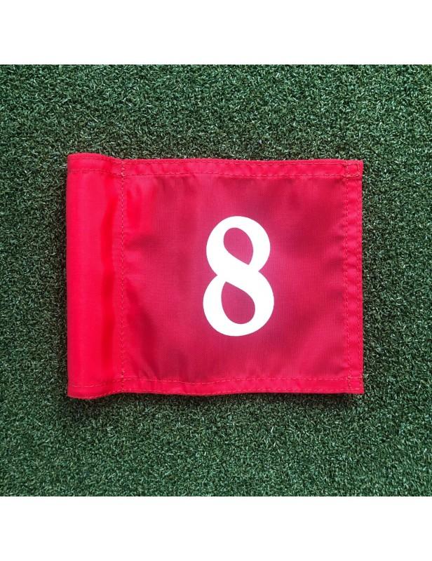 Fanion de putting green numéroté de 1 à 9