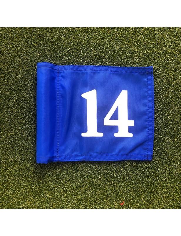 Fanions de putting green numérotés de 10 à 18